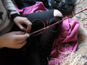 Weaving willow hearts